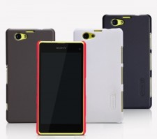 фото Матовый чехол Nillkin Super Frosted Shield для Sony Xperia Z1 Compact (+ пленка)