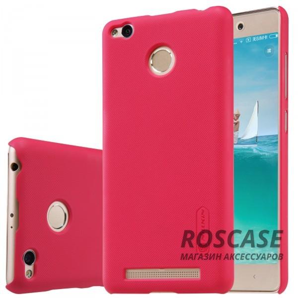 Чехол Nillkin Matte для Xiaomi Redmi 3 Pro / Redmi 3s (+ пленка) (Красный)Описание:производитель  -  бренд&amp;nbsp;Nillkin;совместим с Xiaomi Redmi 3 Pro / Redmi 3s;материал  -  пластик;форма  -  накладка.&amp;nbsp;Особенности:в наличии все функциональные вырезы;рельефная поверхность;тонкий дизайн не увеличивает габариты;пленка в комплекте;защита от механических повреждений;на чехле не видны отпечатки пальцев.<br><br>Тип: Чехол<br>Бренд: Nillkin<br>Материал: Поликарбонат