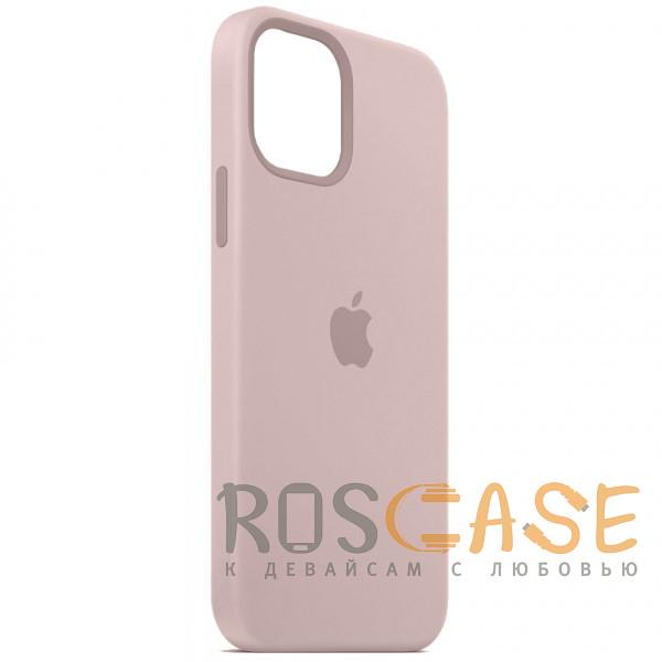 Фотография Розовый песок Силиконовый чехол Silicone Case с микрофиброй для iPhone 12 Pro Max