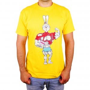 """Muscle Rabbit   Мужская футболка со спортивным принтом """"Кролик - Винни Пух"""""""
