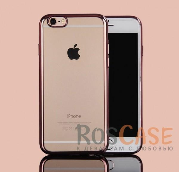 Прозрачный силиконовый чехол для Apple iPhone 7 (4.7) с глянцевой окантовкой (Розовый)Описание:материал - силикон;совместим с Apple iPhone 7 (4.7);тип - накладка.Особенности:прозрачный;глянцевая окантовка;все вырезы предусмотрены;защищает от царапин и потертостей;тонкий дизайн;плотно облегает корпус.<br><br>Тип: Чехол<br>Бренд: Epik<br>Материал: TPU