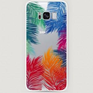 RosCase | Силиконовый чехол Рамка из перьев на Samsung G955 Galaxy S8 Plus