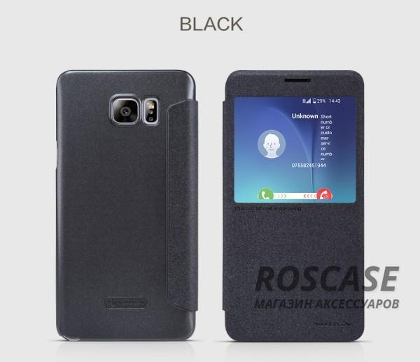 Кожаный чехол (книжка) Nillkin Sparkle Series для Samsung Galaxy Note 5 (Черный)Описание:бренд -&amp;nbsp;Nillkin;совместим с Samsung Galaxy Note 5;материал - кожзам;тип: книжка.&amp;nbsp;Особенности:функция Sleep mode;окошко в обложке;блестящая поверхность;защита со всех сторон.<br><br>Тип: Чехол<br>Бренд: Nillkin<br>Материал: Искусственная кожа