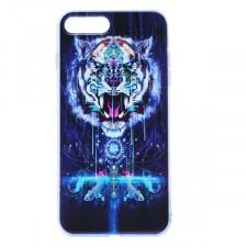 """Тонкий силиконовый чехол """"Космические животные"""" с прозрачными краями для Apple iPhone 7 Plus (5.5"""")"""
