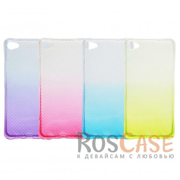 Фото Гибкий чехол для Meizu U20 из прозрачного силикона с градиентным цветным напылением