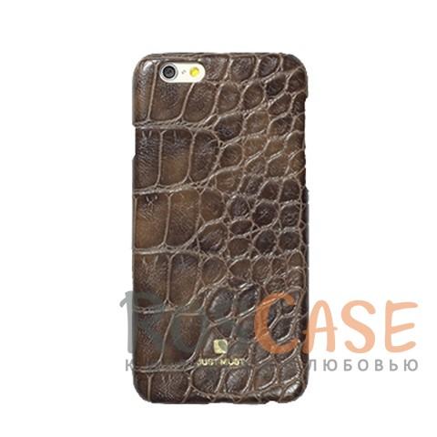 Накладка Just Must Croco II Collection для Apple iPhone 6/6s (4.7) (Коричневый)Описание:бренд -&amp;nbsp;Just Must;материал - искусственная кожа;совместимость - Apple iPhone 6/6s (4.7);тип - накладка.<br><br>Тип: Чехол<br>Бренд: Just Must<br>Материал: Искусственная кожа