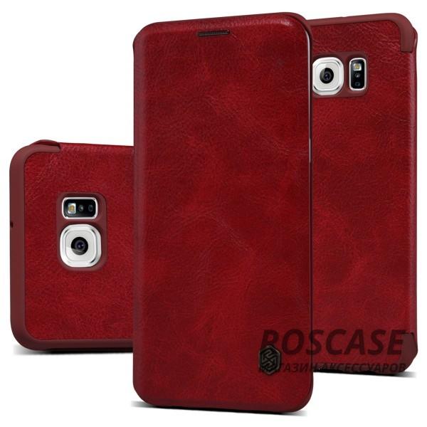 Кожаный чехол (книжка) Nillkin Qin Series для Samsung Galaxy S6 Edge Plus (Красный)Описание:производитель:&amp;nbsp;Nillkin;совместим с Samsung Galaxy S6 Edge Plus;материал: натуральная кожа;тип: чехол-книжка.&amp;nbsp;Особенности:слот для визиток;ультратонкий;фактурная поверхность;внутренняя отделка микрофиброй.<br><br>Тип: Чехол<br>Бренд: Nillkin<br>Материал: Натуральная кожа
