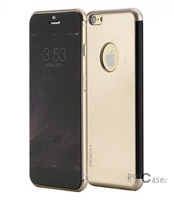 Чехол (книжка) Rock DR.V Series для Apple iPhone 6/6s plus (5.5) (Золотой / Gold)Описание:производитель  -  компания&amp;nbsp;Rock;разработан для Apple iPhone 6/6s plus (5.5);материалы  -  поликарбонат, полиуретан;форма  -  чехол-книжка.&amp;nbsp;Особенности:функция Smart window;декоративная фактура;имеются все функциональные разъемы;на нем не видны &amp;laquo;пальчики&amp;raquo;;защита от ударов и царапин.<br><br>Тип: Чехол<br>Бренд: ROCK<br>Материал: Искусственная кожа