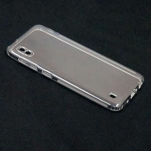 Прозрачный силиконовый чехол для Samsung Galaxy A10 / M10 1мм с защитой камеры
