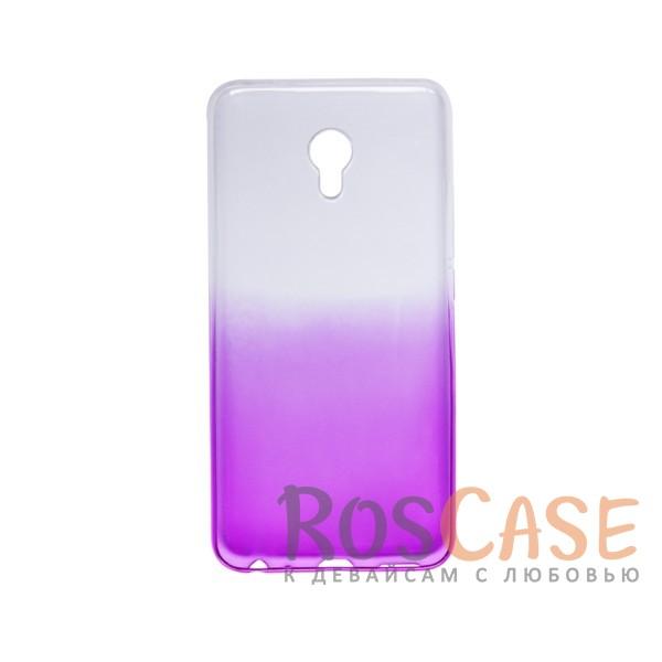 Фото Фиолетовый Прозрачный TPU чехол с цветным градиентом для Meizu MX6