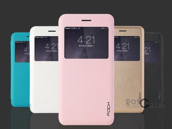фото кожаный чехол (книжка) Rock Uni Series для Apple iPhone 6/6s plus (5.5