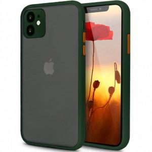 Противоударный матовый полупрозрачный чехол  для iPhone 11