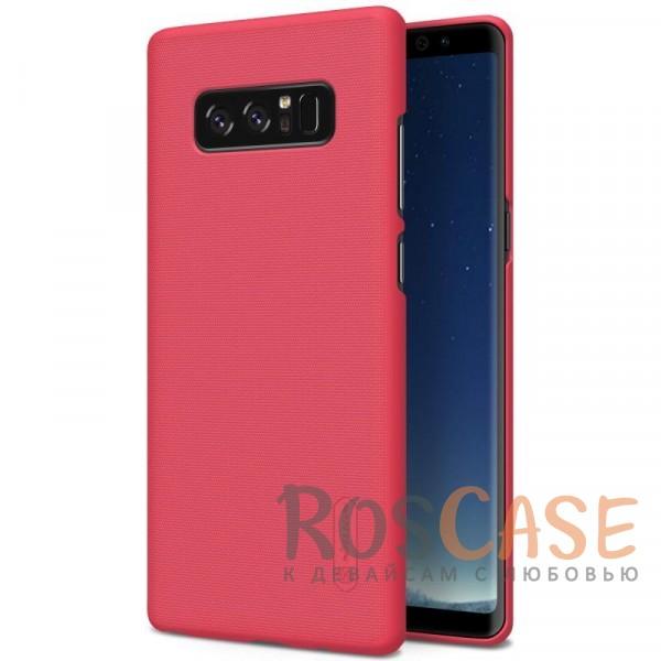 Матовый чехол для Samsung Galaxy Note8 (+ пленка) (Красный)Описание:бренд&amp;nbsp;Nillkin;совместимость: Samsung Galaxy Note8;материал: поликарбонат;тип: накладка;закрывает заднюю панель и боковые грани;защищает от ударов и царапин;рельефная фактура;не скользит в руках;ультратонкий дизайн;защитная плёнка на экран в комплекте.<br><br>Тип: Чехол<br>Бренд: Nillkin<br>Материал: Поликарбонат