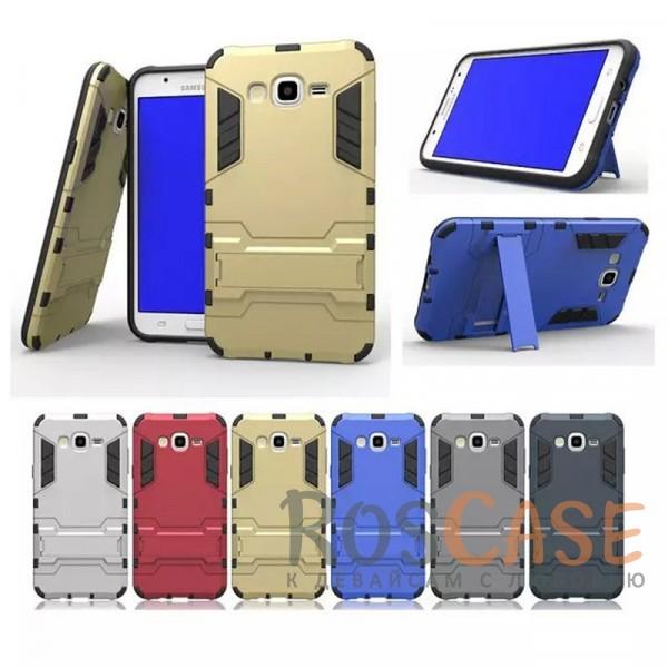Ударопрочный чехол-подставка Transformer для Samsung J700H Galaxy J7 с мощной защитой корпусаОписание:подходит для Samsung J700H Galaxy J7;материалы: термополиуретан, поликарбонат;формат: накладка.&amp;nbsp;Особенности:функциональные вырезы;функция подставки;двойная степень защиты;защита от механических повреждений;не скользит в руках.<br><br>Тип: Чехол<br>Бренд: Epik<br>Материал: TPU