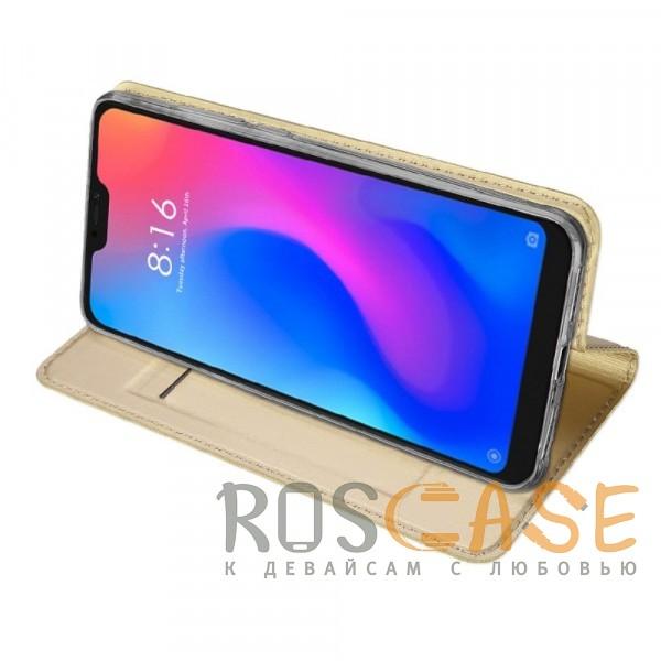 Фотография Золотой Dux Ducis | Чехол-книжка для Xiaomi Mi A2 Lite / Xiaomi Redmi 6 Pro с функцией подставки и картхолдером