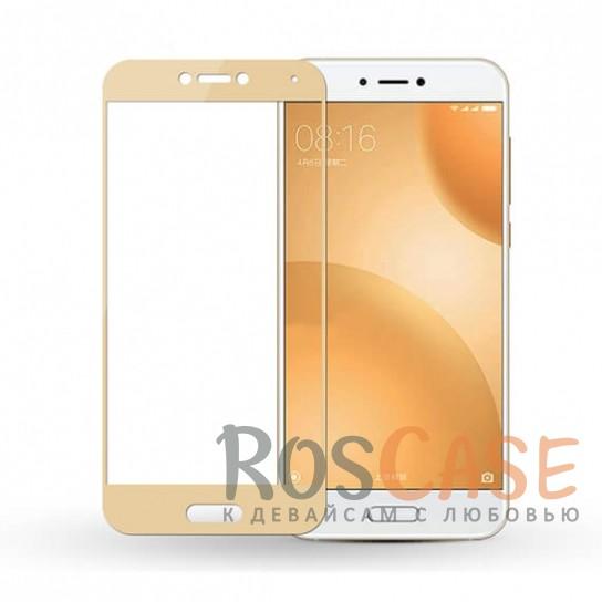 CP+   Цветное защитное стекло для Xiaomi Mi 5c на весь экран (Золотой)Описание:совместимо с Xiaomi Mi 5c;материал: закаленное стекло;тип: защитное стекло на экран;полностью закрывает дисплей;толщина - 0,3 мм;цветная рамка;прочность 9H;покрытие анти-отпечатки;защита от ударов и царапин.<br><br>Тип: Защитное стекло<br>Бренд: Epik