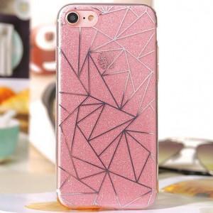 """Силиконовый чехол для Apple iPhone 7 (4.7"""") с блестящим геометрическим узором"""