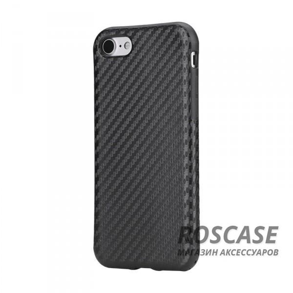 Гибкий текстурный карбоновый чехол для Apple iPhone 7 / 8 (4.7) (Черный / Black)Описание:производство бренда&amp;nbsp;Nillkin;разработана для Apple iPhone 7 / 8 (4.7);материал: термополиуретан, поликарбонат;тип: накладка.&amp;nbsp;Особенности:все функциональные вырезы имеются;прочный и износостойкий;не ухудшает качество сигнала;на нем не заметны отпечатки пальцев;не деформируется.<br><br>Тип: Чехол<br>Бренд: ROCK<br>Материал: Поликарбонат