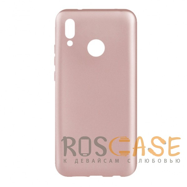 Фото Rose Gold J-Case THIN | Гибкий силиконовый чехол для Huawei P20 Lite