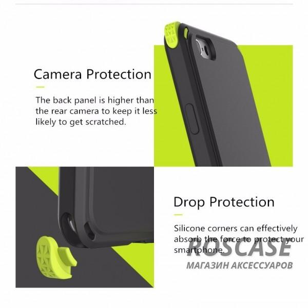 """Фото Черный / Black TPU+PC чехол Rock MOC Kits Series для Apple iPhone 6 plus (5.5"""")  / 6s plus (5.5"""")"""