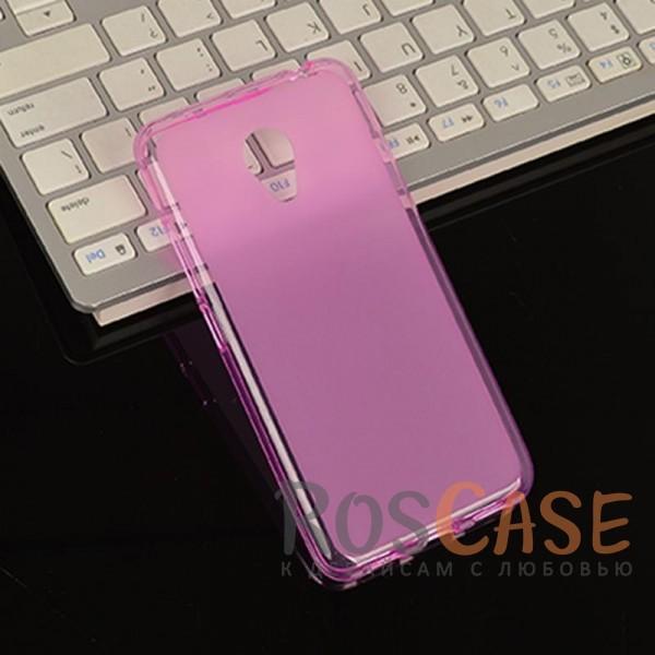 Изображение Розовый TPU чехол с прозрачными бортами для Meizu M3 / M3 mini / M3s