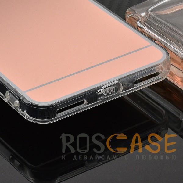Фотография Rose Gold Силиконовый чехол для Xiaomi Redmi Note 5A Prime / Redmi Y1 с зеркальной вставкой