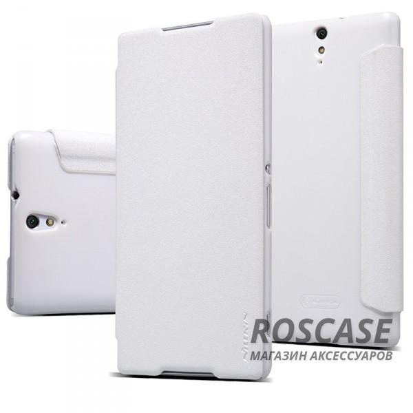 Кожаный чехол (книжка) Nillkin Sparkle Series для Sony Xperia C5 Ultra (Белый)Описание:бренд -&amp;nbsp;Nillkin;совместим с&amp;nbsp;Sony Xperia C5 Ultra;материал - кожзам;тип: книжка.&amp;nbsp;Особенности:тонкий дизайн;функция Sleep mode;не скользит в руках;блестящая поверхность;защита со всех сторон.<br><br>Тип: Чехол<br>Бренд: Nillkin<br>Материал: Искусственная кожа