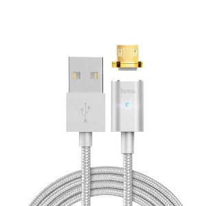 Hoco U16 | Магнитный дата кабель USB to microUSB (1.2m) с тканевой оплёткой