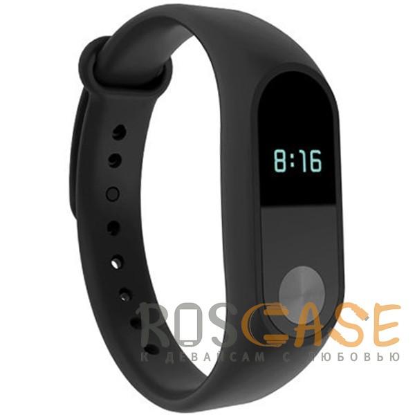 Фото Черный Одноцветный силиконовый ремешок для фитнес-браслета Xiaomi Mi Band 2