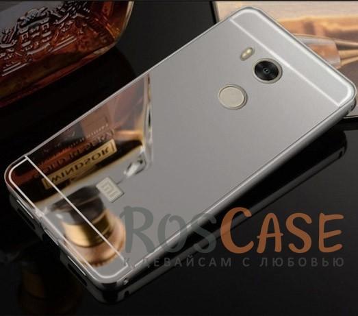 Защитный металлический бампер с зеркальной вставкой для Xiaomi Redmi 4 Pro / 4 Prime (Серебряный)Описание:разработан для&amp;nbsp;Xiaomi Redmi 4 Pro / Redmi 4 Prime;материалы - металл, акрил;тип - бампер с задней панелью.<br><br>Тип: Чехол<br>Бренд: Epik<br>Материал: Металл