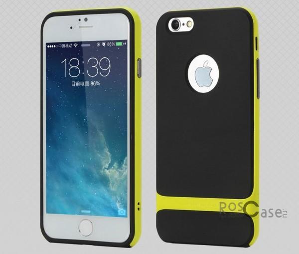 TPU+PC чехол Rock Royce Series для Apple iPhone 6/6s (4.7) (Черный / Зеленый)Описание:фирма-производитель  -  Rock;совместимость - Apple iPhone 6/6s (4.7);материалы  -  полиуретан, поликарбонат;тип  -  накладка.&amp;nbsp;Особенности:пластичный;имеет все необходимые вырезы;легко чистится;не увеличивает габариты;защищает от ударов и падений;износостойкий.<br><br>Тип: Чехол<br>Бренд: ROCK<br>Материал: TPU