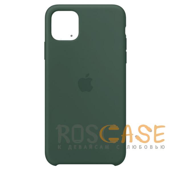 Фото Темно-зеленый Силиконовый чехол Silicone Case с микрофиброй для iPhone 11 Pro