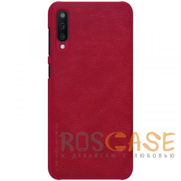 Изображение Красный Nillkin Qin натур. кожа   Чехол-книжка для Samsung A505F Galaxy A50