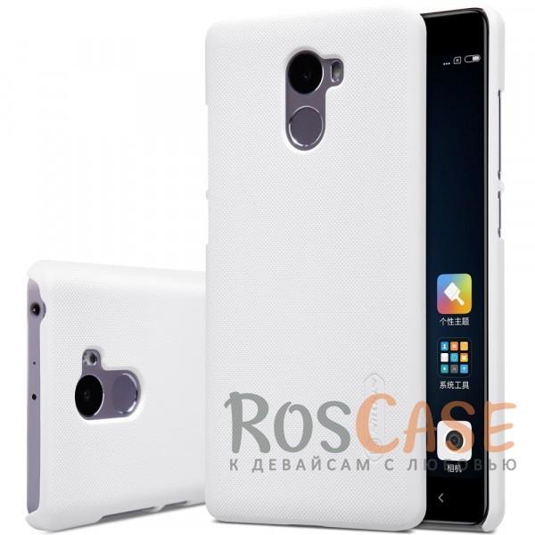 Чехол Nillkin Matte для Xiaomi Redmi 4 (+ пленка) (Белый)<br><br>Тип: Чехол<br>Бренд: Nillkin<br>Материал: Поликарбонат