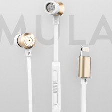фотография Наушники ROCK Mula S stereo (Lightning earphone)