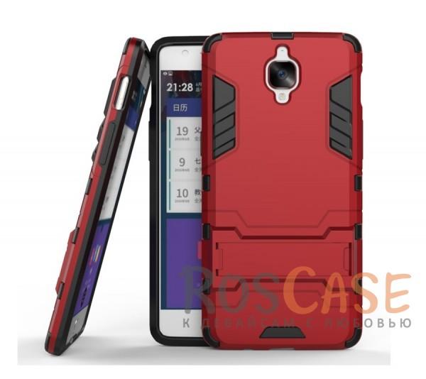 Ударопрочный чехол-подставка Transformer для OnePlus 3 / OnePlus 3T с мощной защитой корпуса (Красный / Dante Red)Описание:подходит для OnePlus 3 / OnePlus 3T;материалы: термополиуретан, поликарбонат;формат: накладка.&amp;nbsp;Особенности:функциональные вырезы;функция подставки;двойная степень защиты;защита от механических повреждений;не скользит в руках.<br><br>Тип: Чехол<br>Бренд: Epik<br>Материал: TPU