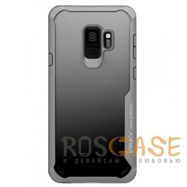 Фото Серый iPaky Luckcool | Чехол для Samsung Galaxy S9 с цветными силиконовыми вставками