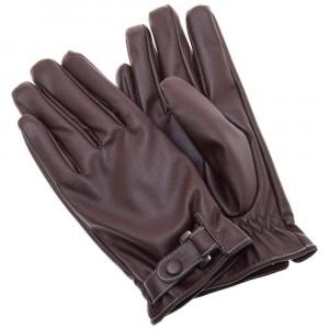 Кожаные мужские перчатки RHDS для сенсорных экранов