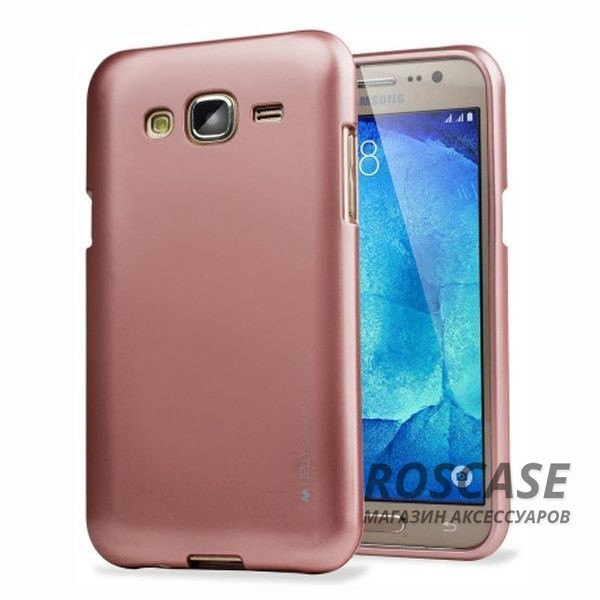 фотография Rose Gold TPU чехол Mercury iJelly Metal series для Samsung J700H Galaxy J7