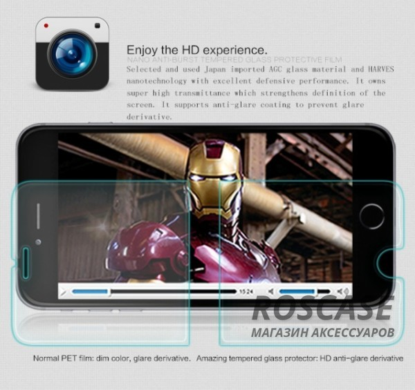 фото защитное стекло Nillkin Anti-Explosion Glass Screen (H) для Apple iPhone 6/6s plus (5.5