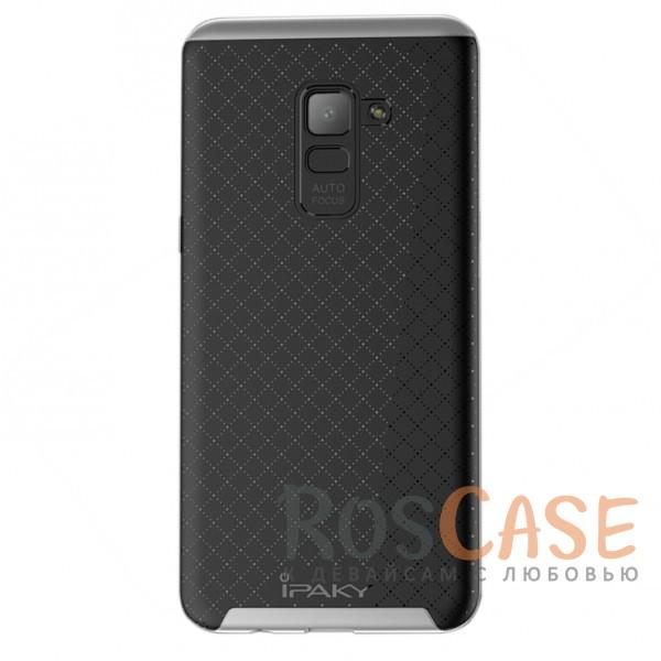Фотография Черный / Серый iPaky Hybrid | Противоударный чехол для Samsung A730 Galaxy A8+ (2018)