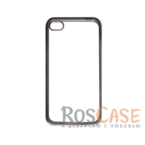 Прозрачный силиконовый чехол для Apple iPhone 4/4S с глянцевой окантовкой (Серебряный)Описание:совместим с Apple iPhone 4/4S;материал - термополиуретан;тип - накладка.<br><br>Тип: Чехол<br>Бренд: Epik<br>Материал: TPU