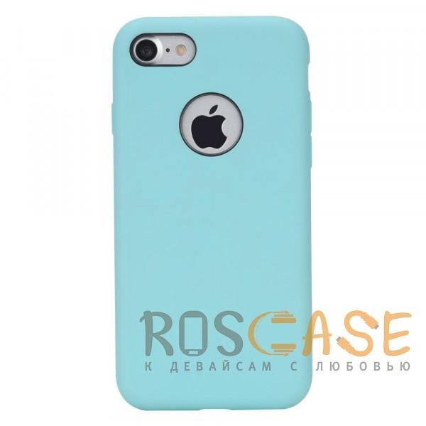 """Фото Голубой / Light Blue Rock Silicon   Ультратонкий чехол для Apple iPhone 7 / 8 (4.7"""") из силикона"""