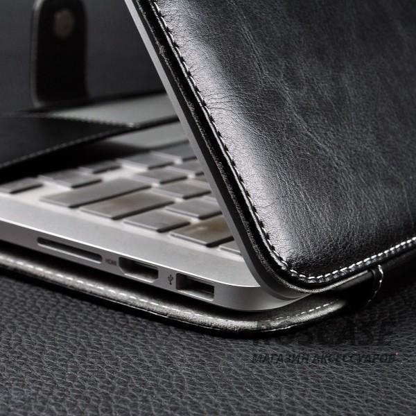 Фотография Черный Кожаный чехол-книжка TTX для Apple MacBook 12