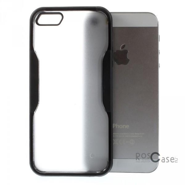 TPU+PC чехол 0.5мм для Apple iPhone 5/5S/SE (Черный (прозрачный))Описание:компания-производитель  -  Epik;разработан специально для Apple iPhone 5/5S/5SE;материалы  -  полиуретан, поликарбонат;тип  -  накладка.&amp;nbsp;Особенности:ультратонкий;поликарбонатная окантовка;все функциональные вырезы в наличии;легко очищается;не скользит в руках;защищает от ударов и царапин;не трескается.<br><br>Тип: Чехол<br>Бренд: Epik<br>Материал: TPU