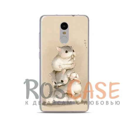 TPU чехол Sweet Art Animals для Xiaomi Redmi Note 4 (Хомяки)<br><br>Тип: Чехол<br>Бренд: Epik<br>Материал: TPU