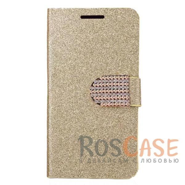 Сияющий кожаный чехол-книжка со стразами для LG H930 / H930DS V30 / V30+ (Золотой)Описание:тип - чехол-книжка;совместимость -&amp;nbsp;LG H930 / H930DS V30 / V30+;материал - искусственная кожа, силикон;защита со всех сторон;магнитная застежка со стразами;сияющая гладкая поверхность;внутренние кармашки для пластиковых карт;защищает от механических повреждений;уникальный яркий дизайн.<br><br>Тип: Чехол<br>Бренд: Epik<br>Материал: Искусственная кожа