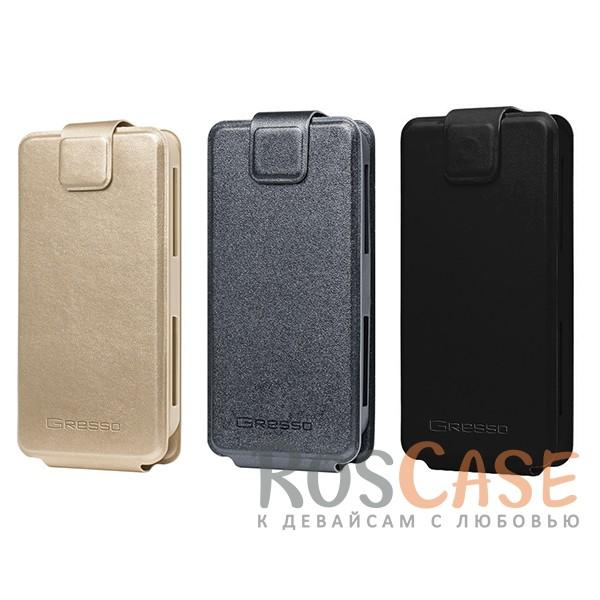 Универсальный чехол-флип Gresso Грант для смартфона 4.9-5.2 дюйма<br><br>Тип: Чехол<br>Бренд: Gresso<br>Материал: Искусственная кожа
