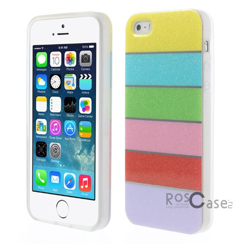 фото TPU чехол Colorful Rainbow для Apple iPhone 5/5S/5SE