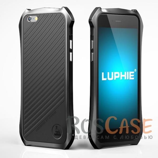 """Фото Алюминиевый бампер Luphie Dark Knight для Apple iPhone 6/6s (4.7"""") + наклейка из кожи на зад. панель"""